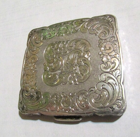 Sterling compact Silver compact sterling silver  p