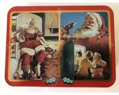 Vintage Coca Cola Santa Claus Playing Cards Double Deck in TIn 1995