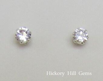 f5768190b3d8a White topaz earrings   Etsy