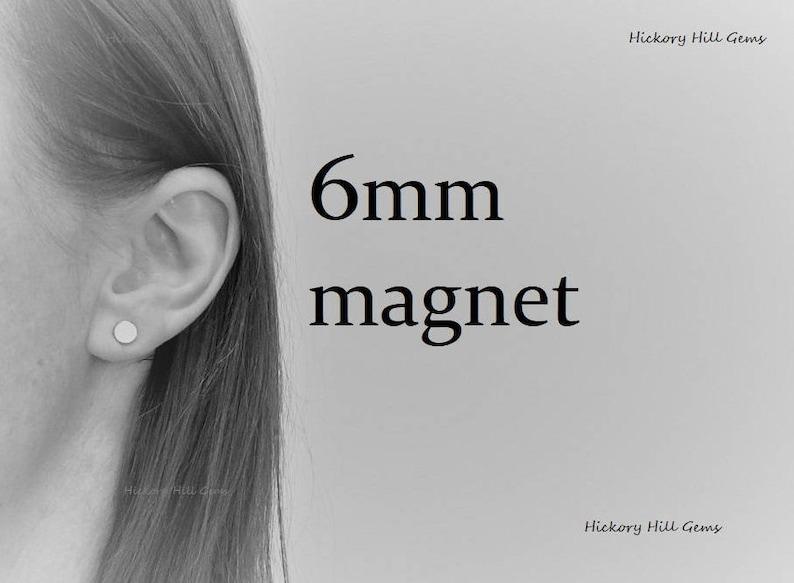 f4e0fe68686 Magnetic Earring Backs 6mm magnet 1 pair one quarter inch
