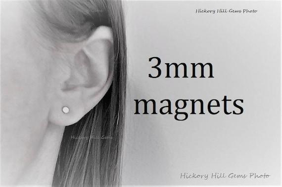 Magnetic Earring Backs 3mm Magnets Tiny Magnetic Studs 3 Etsy