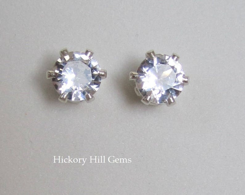 925 STERLING SILVER LADIES PEARL STUD EARRINGS W//.25 CT LAB DIAMONDS//10MM BY 3MM