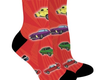 c2e7a293d Classic Car Gifts for Women and Men Classic Car Socks Car Enthusiasts Gifts  Cars Novelty Crew Socks - CSK-0136