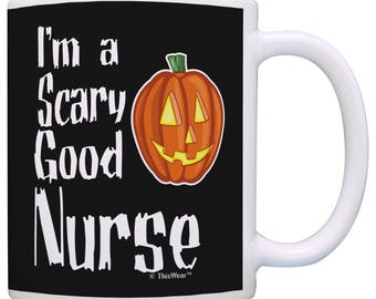 8725130535207 Funny Halloween Gift for Nurse I'm a Scary Good Nurse Mug - M11-3308