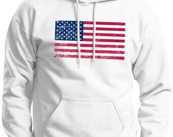 Tattered American Flag Premium Hoodie  Sweatshirt F170  - US-107