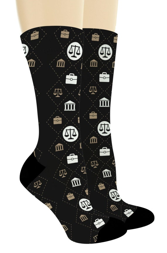 Law School Gifts Lawyer Socks Scales Of Justice