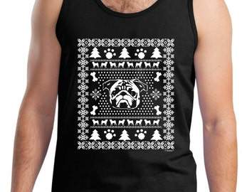 Ugly Pug Christmas Sweater Tank Top 2200 - WXM-302T