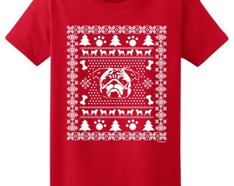 Ugly Pug Christmas Sweater Ladies T-Shirt 2000L - WXM-302T