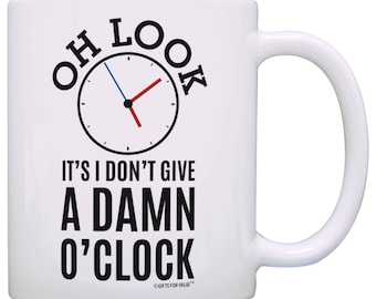Retirement Gifts for Coworkers Oh Look Clock Expletive Retired Gag Gift Coffee Mug - M11-2414
