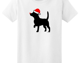Merry Christmas Beagle with Santa Hat Ladies T-Shirt 2000L - AP-380