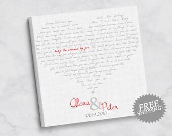 First Dance Lyrics Canvas Print -  Wedding Gift - Anniversary Gift - Gift for Newlyweds