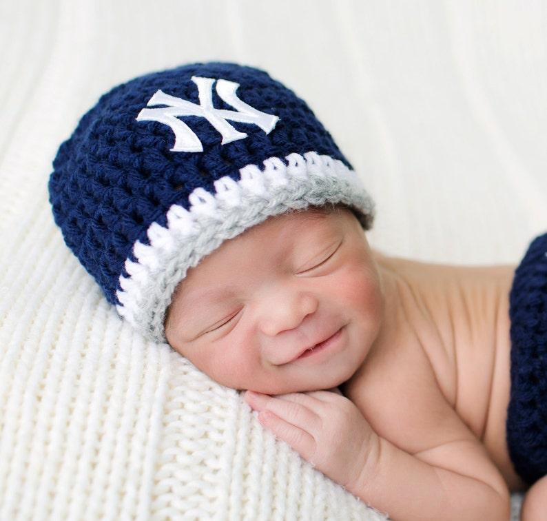 Baby Yankees Hat Baby Girl Hat Baby Boy Hat Yankees  d3ecf8c0f60