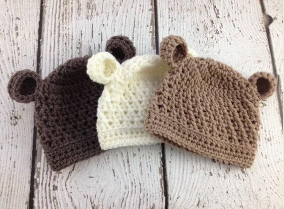 35ff92a9149 Baby Boy Hat Baby Boy Beanie Bear Crochet Hat Baby Bear