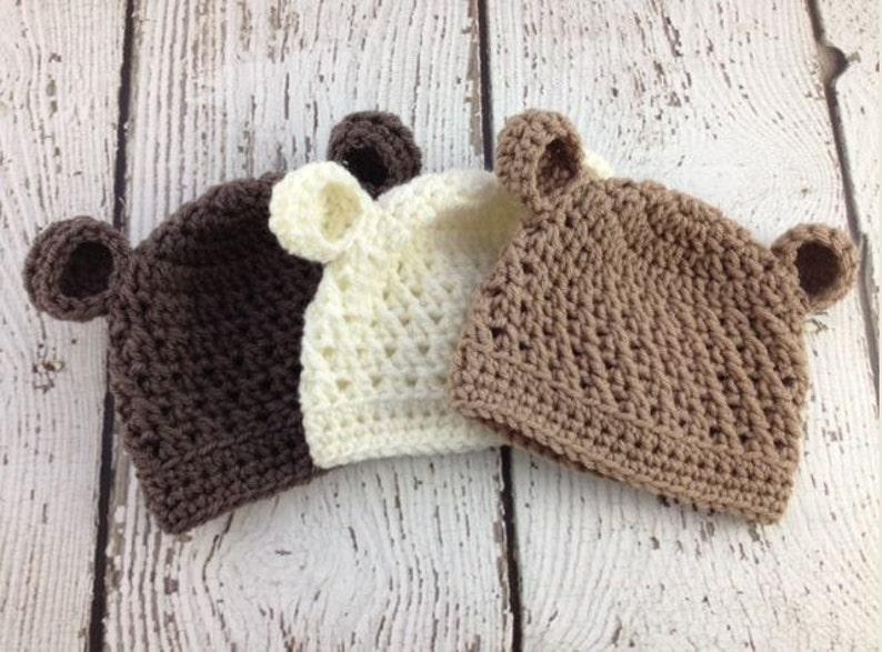 274c5c36c04 Baby Boy Hat Baby Girl Hat Baby Bear Hat Crochet Baby Bear