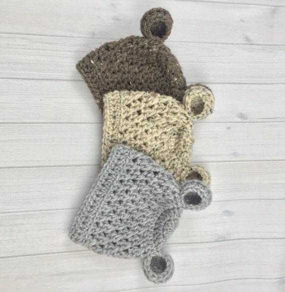 Bonnet bébé chapeau bébé fille bébé ours chapeau Crochet   Etsy d2038189b25