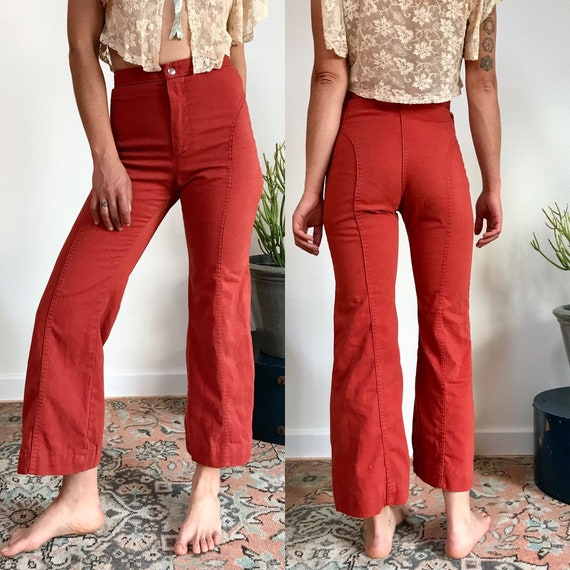 High Waisted Saddleback Dittos Pants Rust Red Icon