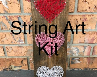DIY Heart String Art Kit - DIY String Art - DIY String Art Kit - Heart String Art Kit