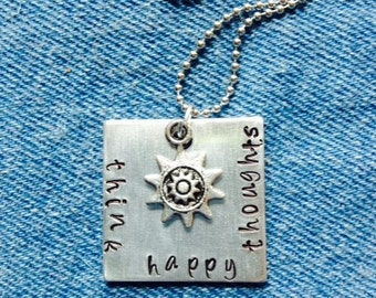 Think Happy Thoughts Necklace