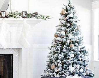 Perfect Holiday Christmas Tree Snow Flocked - Unlit
