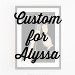 Custom Wedding Poster for Alyssa Lexvold