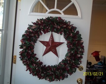 "Country Star Cloth 24"" Wreath"