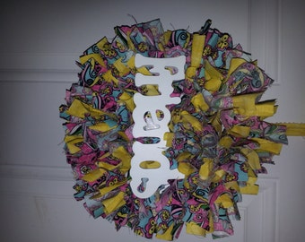 Psychedelic Friends Cloth Wreath