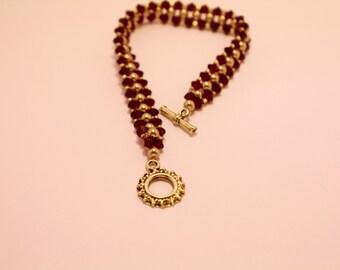 Red Swarovksi Crystal Bracelet