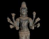 19th Century Style Bronze Khmer Angkor Wat Style Lokeshvara Statue - 52cm 21 quot
