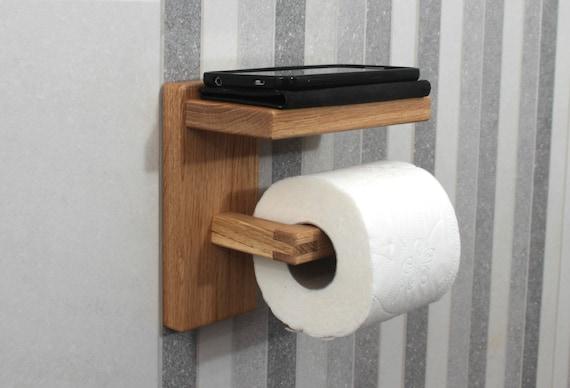 Eiche Toilettenpapierhalter Mit Regal Holz Toilettenrolle Halter Holz Home Decor