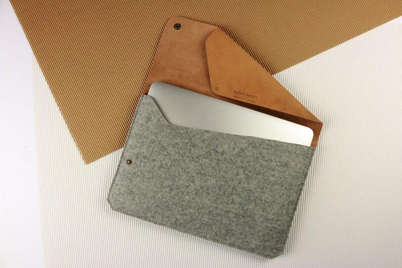 80640fec6e6d4 Tasche für 13 MacBook Air   Pro Leder   Filz G