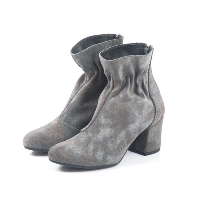 High Heeled Boots Handmade Boots Ankle Boots Riding Boots Black Heeled Boots Black Booties Leather Boots