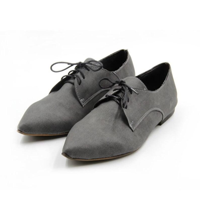 New Handmade Vegan Gray Oxford Shoes
