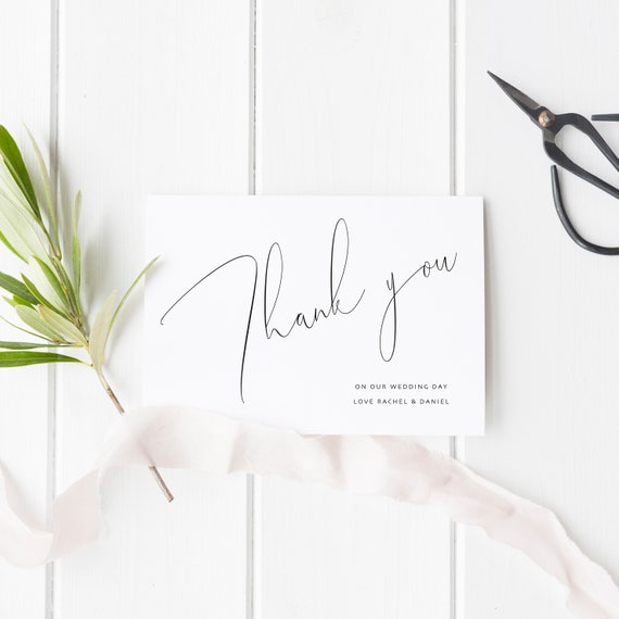 Personalised Photo Wedding Thank You Cards Personalised Note Cards