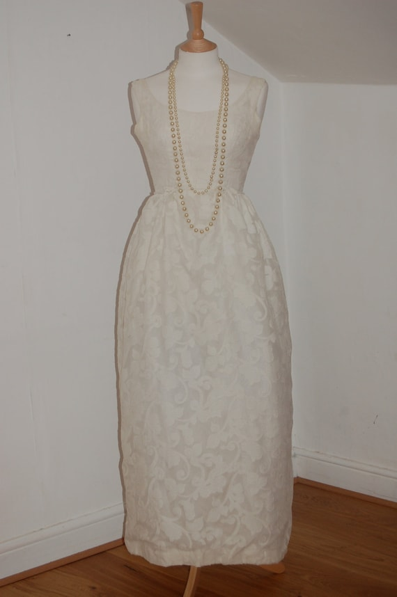 Will Steinman Original long cream gown with sheer