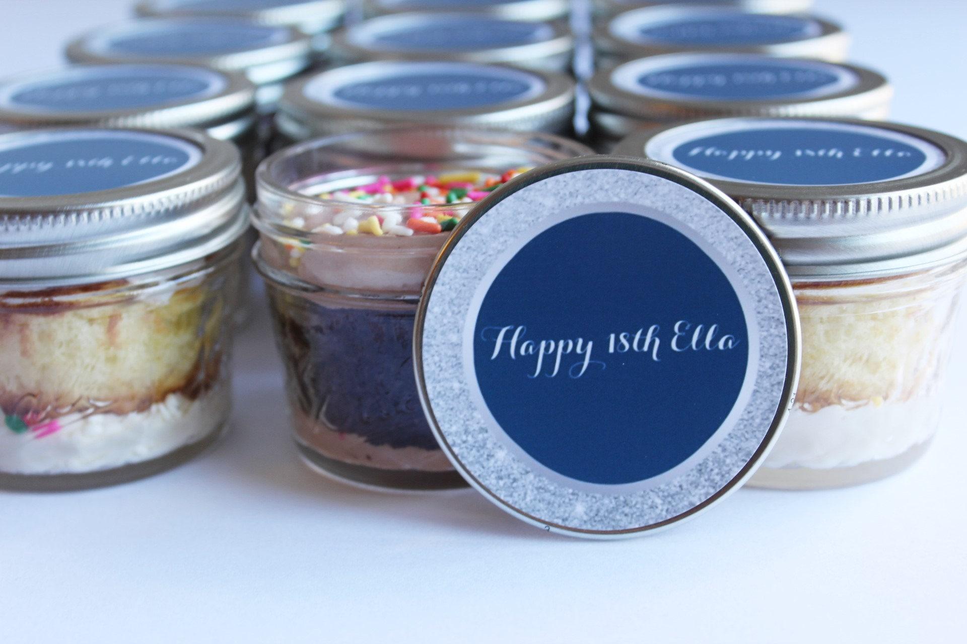 12 4oz Cupcakes In A Jar Cake Jars Mason Jars Birthday Etsy