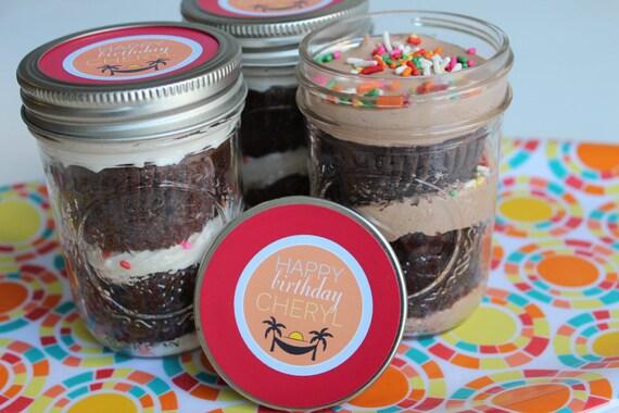 4 8oz Cupcakes In Ein Glas Mason Glaser Geburtstag Etsy