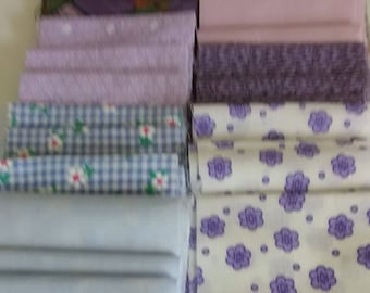 """JELLY ROLL VARIETY/ 3.5""""x42"""" Strips/8 Different Designs/3 Strips Per Design/ Total # Strips 24/Purple/Blue Promenient Colors"""