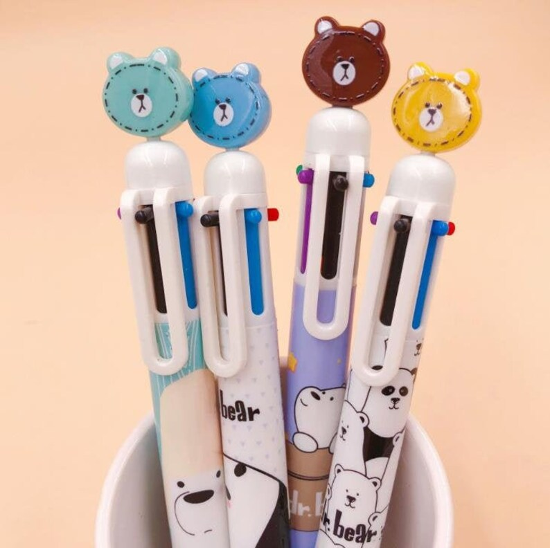 We Bare Bears 6 Color Pen P2031G