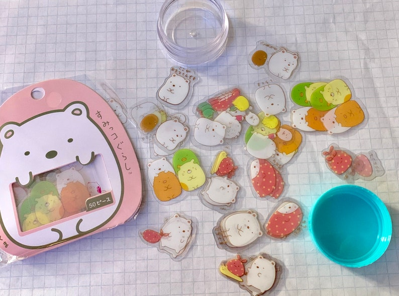 Sumikko Gurashi Animal Stickers 20 PK in container ST8001SC image 0