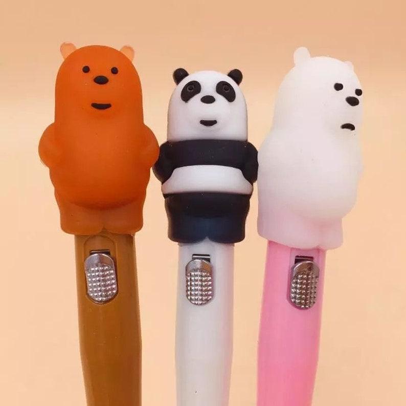 We Bare Bears Light Up Gel Pen .5mm Black Ink P2045G image 0