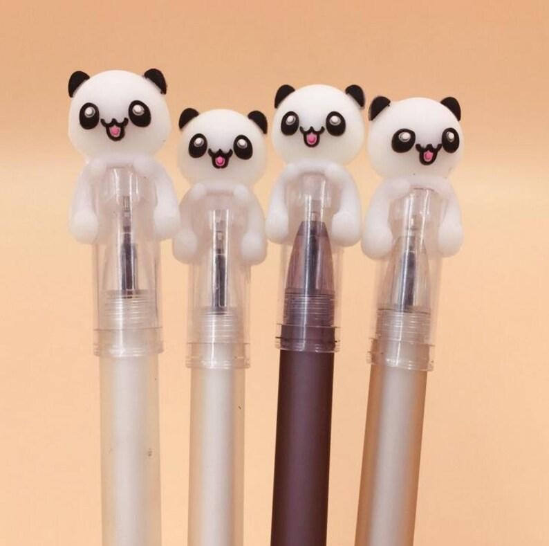 Panda on Top Gel Pen .5mm Black Ink P1195G image 0