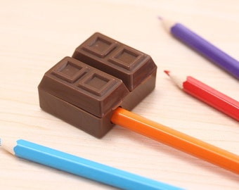 Chocolate Pencil Sharpener and Eraser DA1001CHS