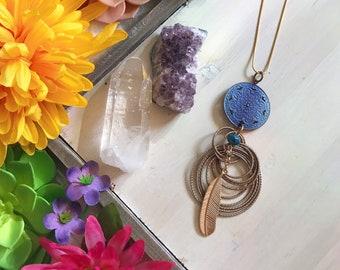 boho hippie chic pendant ooak handmade ceramic supply red and metal black geometric modern design pendant ooak components for jewel