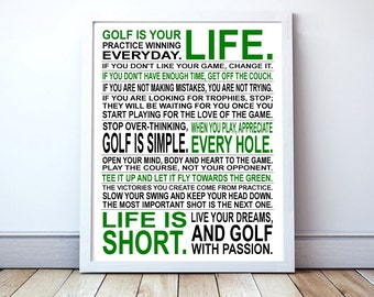 Golf Is Your Life - Custom Manifesto Poster Print