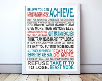 Believe You Can Achieve - Custom Manifesto Poster Print