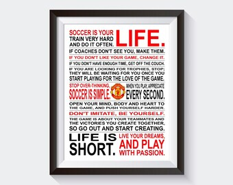 Soccer Is Your Life - *Limited Edition Man Utd* Manifesto Print