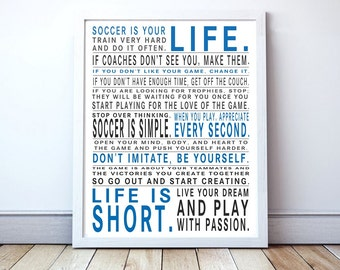 Soccer Is Your Life - Original Manifesto Poster Print