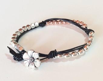 Wrap boho bracelet,beaded wrap bracelet,leather wrap bracelet,boho beaded bracelet,woman bracelet,boho bracelet