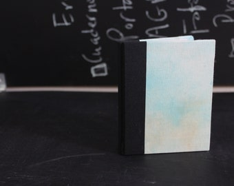 Blue dyed hardcover journal