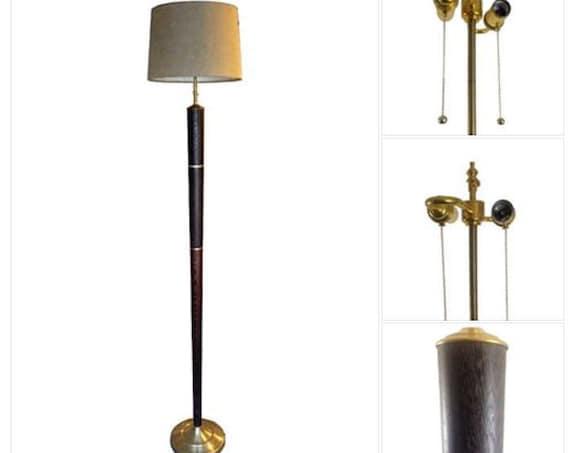 Savannah - Wenge and Brass Floor Lamp, Aaron Thomas Original